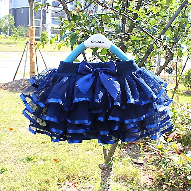 Baby Girl Tutu Skirt Cute Kids Princess Tulle Skirts Summer Children Party Ribbon Skirt Girls Dance Pettiskirt 2-12 Years Child