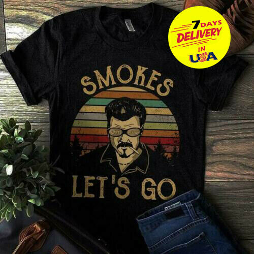 Trailer Park Boys Smokes Let'S Go Vintage T Shirt Black Cotton Full Size