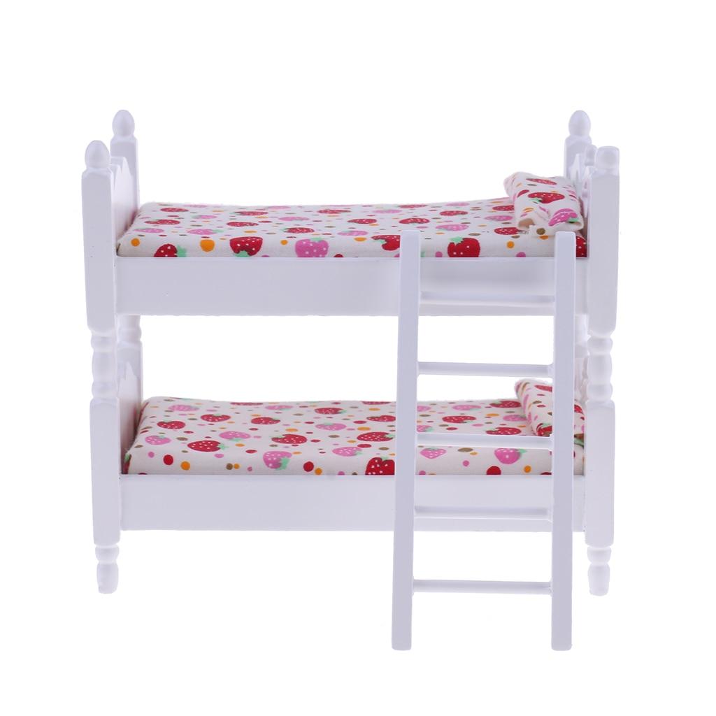 Nursery Cradle Cockhorse 1//12 Dollhouse Bedroom Furniture Wooden Bunk Bed