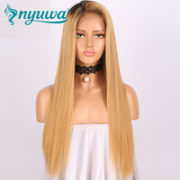 13x6 Lace Front Human Hair Wigs Pre Plucked 150% Density Straight Brazilian Virgin Hair Lace Wigs With Baby Hair NYUWA