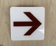 2pcs/lot. 12.5x12.5x0.2cm Acrylic arrowhead sign Automatic door or sliding stick