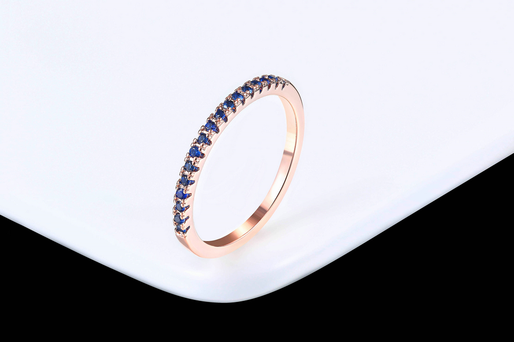 Wedding Ring For Women Man Concise Classical Multicolor Mini Cubic Zirconia Rose Gold Color Fashion Jewelry R132 R133 ZHOUYANG 14