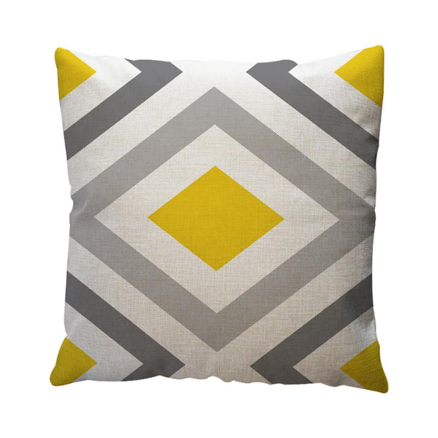 buy geometric pattern cotton linen throw pillow case cushion cover home sofa