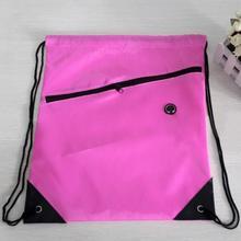 Swimming Beach Drawstring Bag Exercise Backpack Sack Bag Small Slot Riding Backpack Gym 2018 Drawstring Shoes Men Women Bags