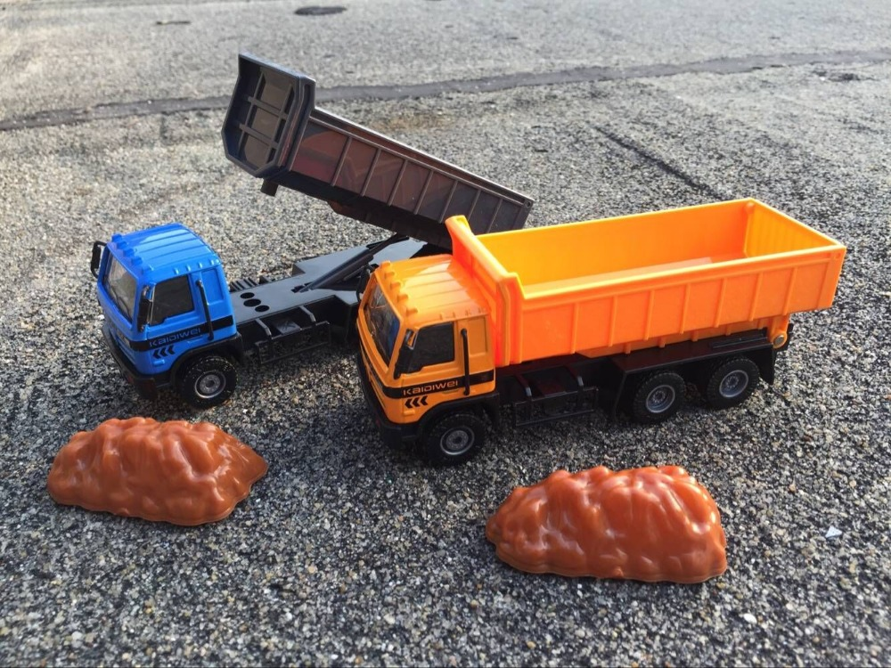 KDW 15cm Alloy car model simulation Engineering Dump truck kids toys Gift box packing child s