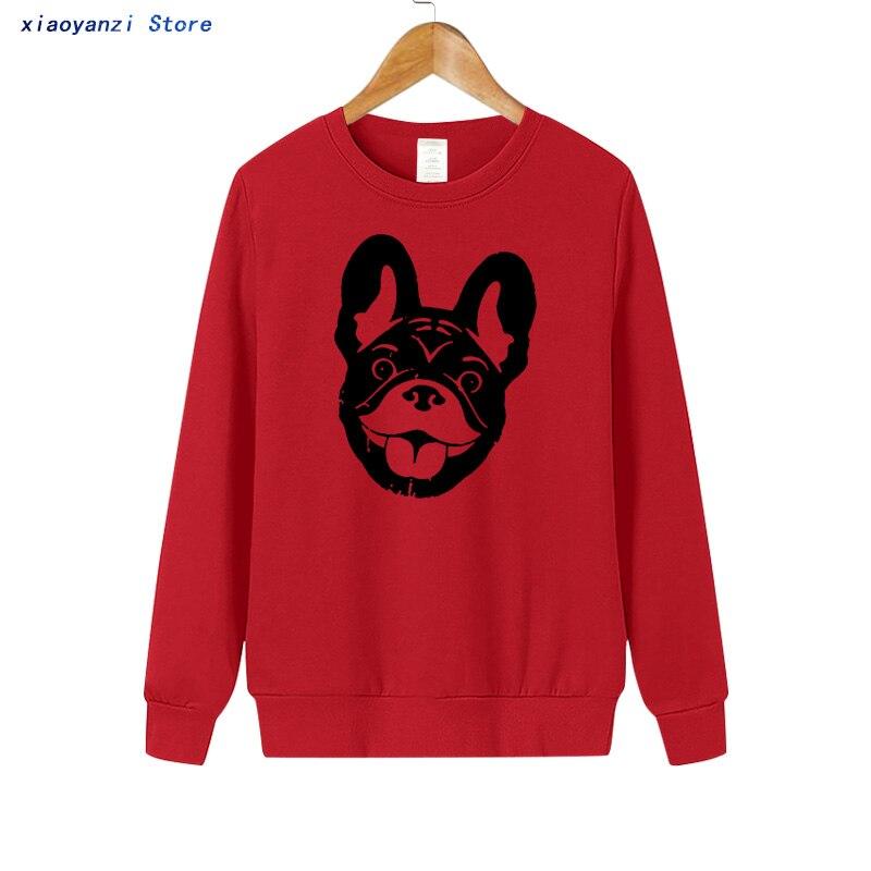 2019 Qualität Baumwolle Französisch Bulldog Drucken Frauen Casual Sweatshirts Pullover Für Mädchen Hoodies Mode Frauen Sweatshirt Euu0101