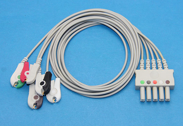 Datascope/Mindray Compatible 5 Leads ECG Leads Set Cable AHA Snap ...