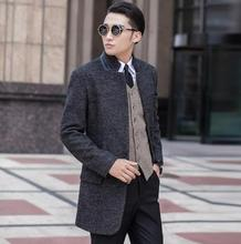 Clothing stand collar wool coat men grey single breasted coat outerwear trench coats sobretudo manteau homme plus size S – 9XL