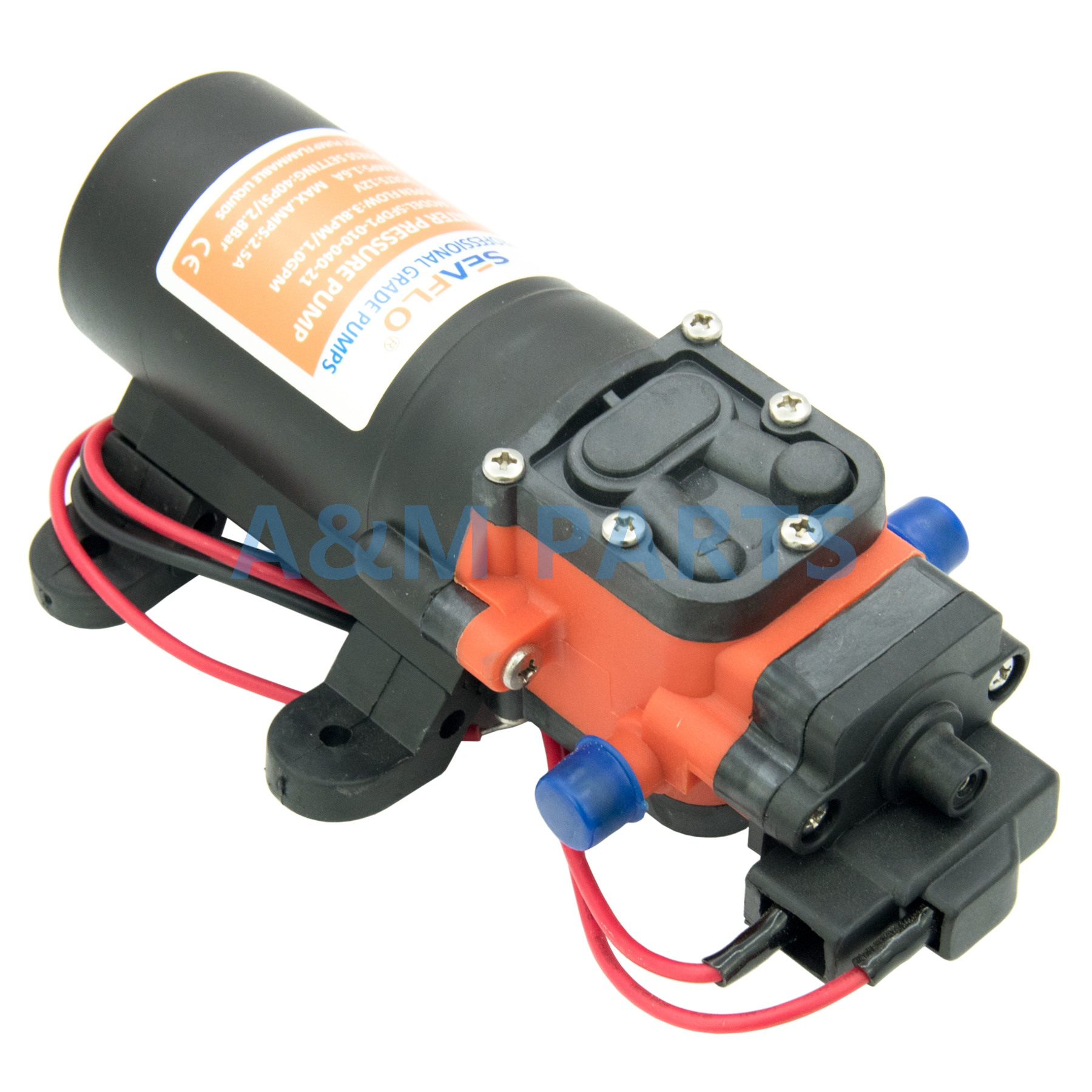 Marine Boat Diaphragm Self Priming Water Pressure Pump 12V 40PSI 1 0 GPM