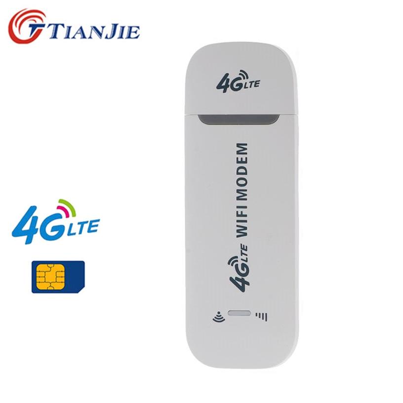 TianJie 4G Wifi Router 4G FDD TDD Car USB Modem Mini Stick Date Card Mobile Hotspot Wireless Broadband USB WI-FI Dongle