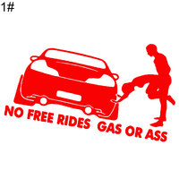 No Free Rides Gas or Ass Car Stickers 2