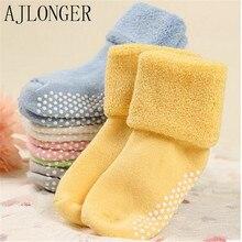 Kids Cotton Socks Toddler Sock Winter Warm Baby Boy Girl Children Cute Candy Color Socks цены онлайн