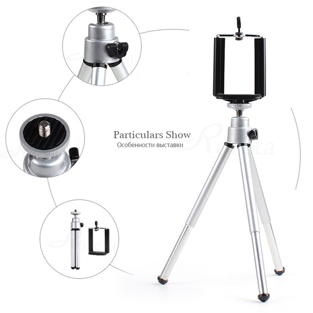 Roreta Mobile Phone mini tripod Stand Bluetooth Remote monopod tripods For mini Digital Camera tripod Phone Desktop Holder