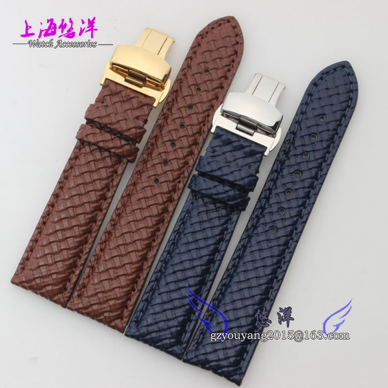 The men and women strap hook Personality weaving grain real cowhide adapter fu li 20 mm
