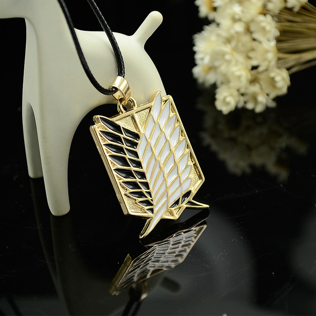 Attack On Titan Wings of Liberty Pendant 2 Colors Necklace Cosplay Jewelry