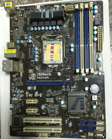 H61 motherboard used for ASROCK P65ICAFE LGA1155 DDR3 SATA3 support Xeon E3 1270 12XX 22nm 32nm