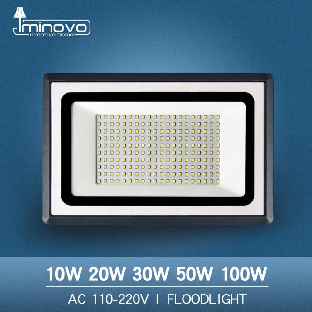 Led Flood Light Outdoor Spotlight Floodlight 10W 20W 30W 50W 100W Wall Washer Lamp Reflector IP65 Waterproof Garden 220V 110V