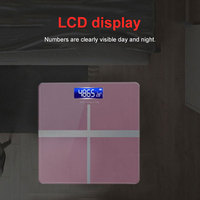 Electronic Weighing Scales Body Fat Scale Portable USB Charging Cross Pattern Smart Balance Keep Shape Household
