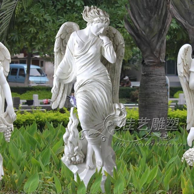 Seasons Goddess Sculpture Angel Wings Villas Large Garden Ornaments Soft  Furnishings Winter Decorations Property