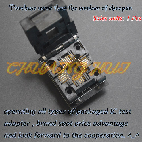 <font><b>IC</b></font> TEST TENX-PLCC-32-1M32 <font><b>Programmer</b></font> <font><b>adapter</b></font> <font><b>PLCC32</b></font> <font><b>to</b></font> <font><b>DIP32</b></font> <font><b>Programmer</b></font> <font><b>adapter</b></font> image
