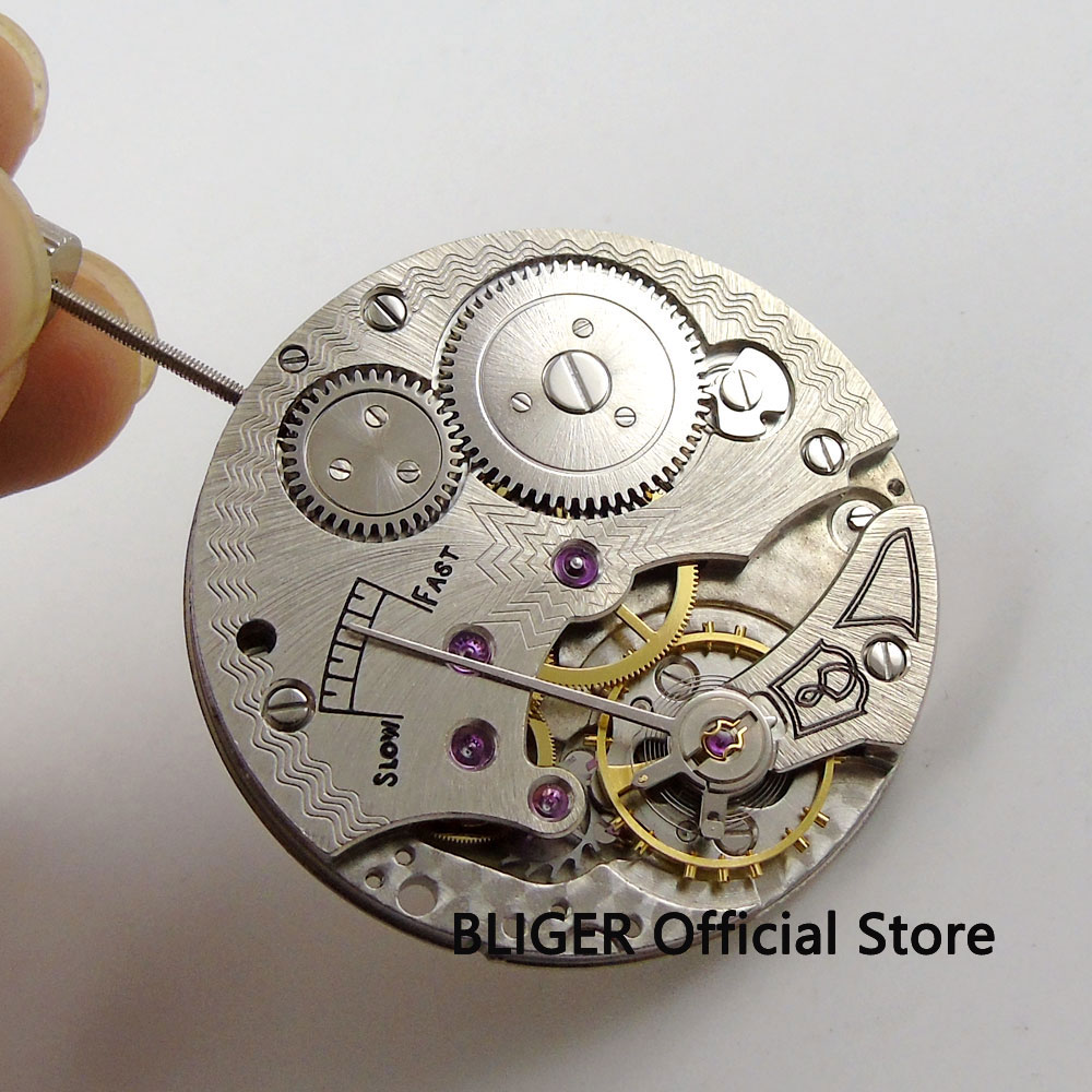 Vintage 17 Jewels 6498 Mechanical Hand winding Stainless steel Men s watch Movement M3