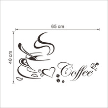 Coffee and Cup Stickers for Wall Decor