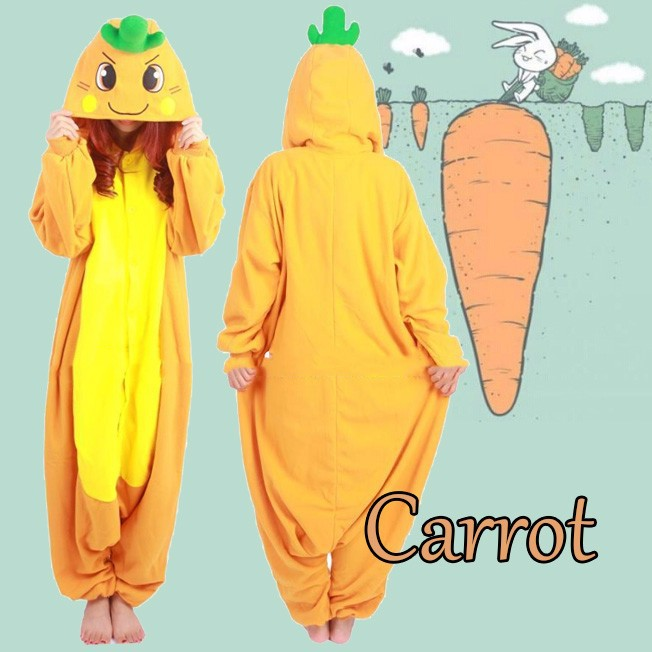 Anime Carrot Party Cosplay Costumes Adult Unisex Onesie Women Men Novelty Baggy Jumpsuits Sleepwear Plus Size