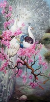 Frameless Peacock Senior Handed Painting Oil Painting By Numbers Home Decor Oil Painting On Canvas Wall Art Picture