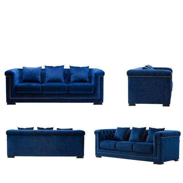 Mobili Divano Moderno.Us 1588 0 Colore Blu Classico Divano Moderno E Minimalista Divano In Tessuto Morbido Divano Mobili Casa Di Vendite In Colore Blu Classico Divano