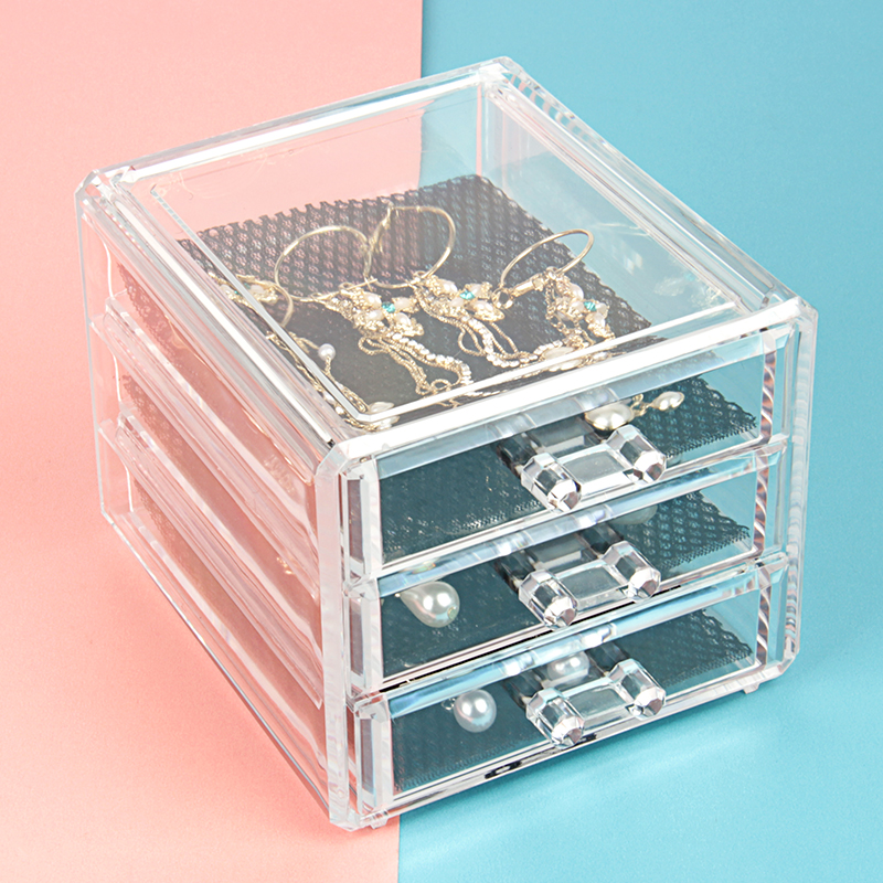 Acrylic makeup organizer rangement storage box Clear 15 Display ...