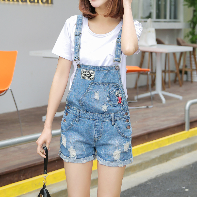 цены High Waist Jeans Real Women Jeans 2016 New Summer Korean Cargo Shorts Female Taobao Explosion Of A Hole In On Behalf Of Women