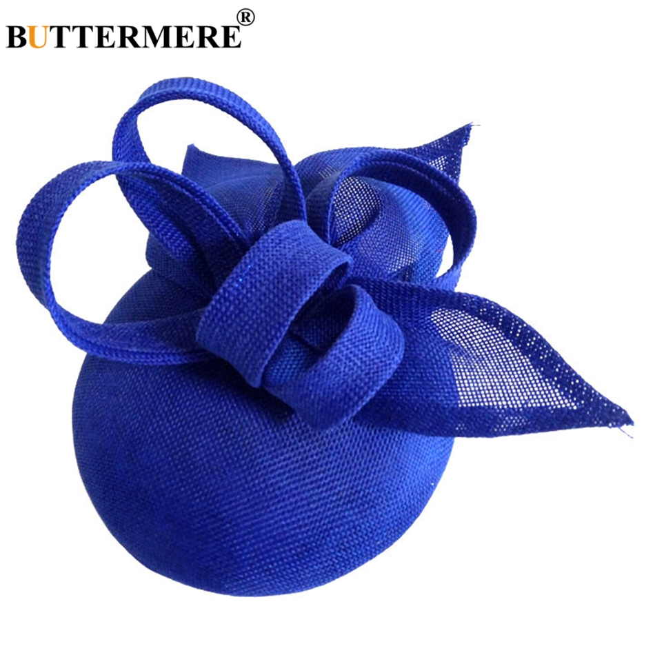 BUTTERMERE Women Fedora Ladies Hats Linen Bride Hat Veil Female Elegant Wedding Party Vintage Pillbox Hat <font><b>Church</b></font> Hats Woman Hat image