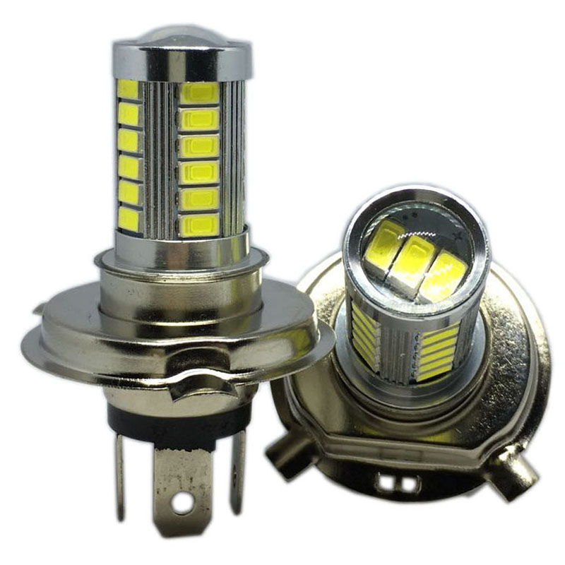 2pcs H4 LED 5630 33SMD Super Bright White Car Light Source Headlight DRL Fog Lights Bulb Lampada Led Carro LED 12V SP12D0 2pcs h11 h8 super bright 5630 33 smd auto led white fog lamp light bulb driving car light car h11 h8 lights hot sell