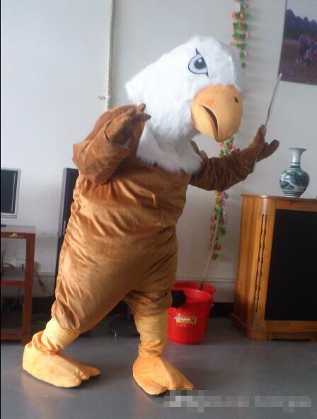 99 $ en Stock Costume de mascotte de faucon aigle brun Halloween fête d'anniversaire de noël tenue de carnaval accessoires complets - 3