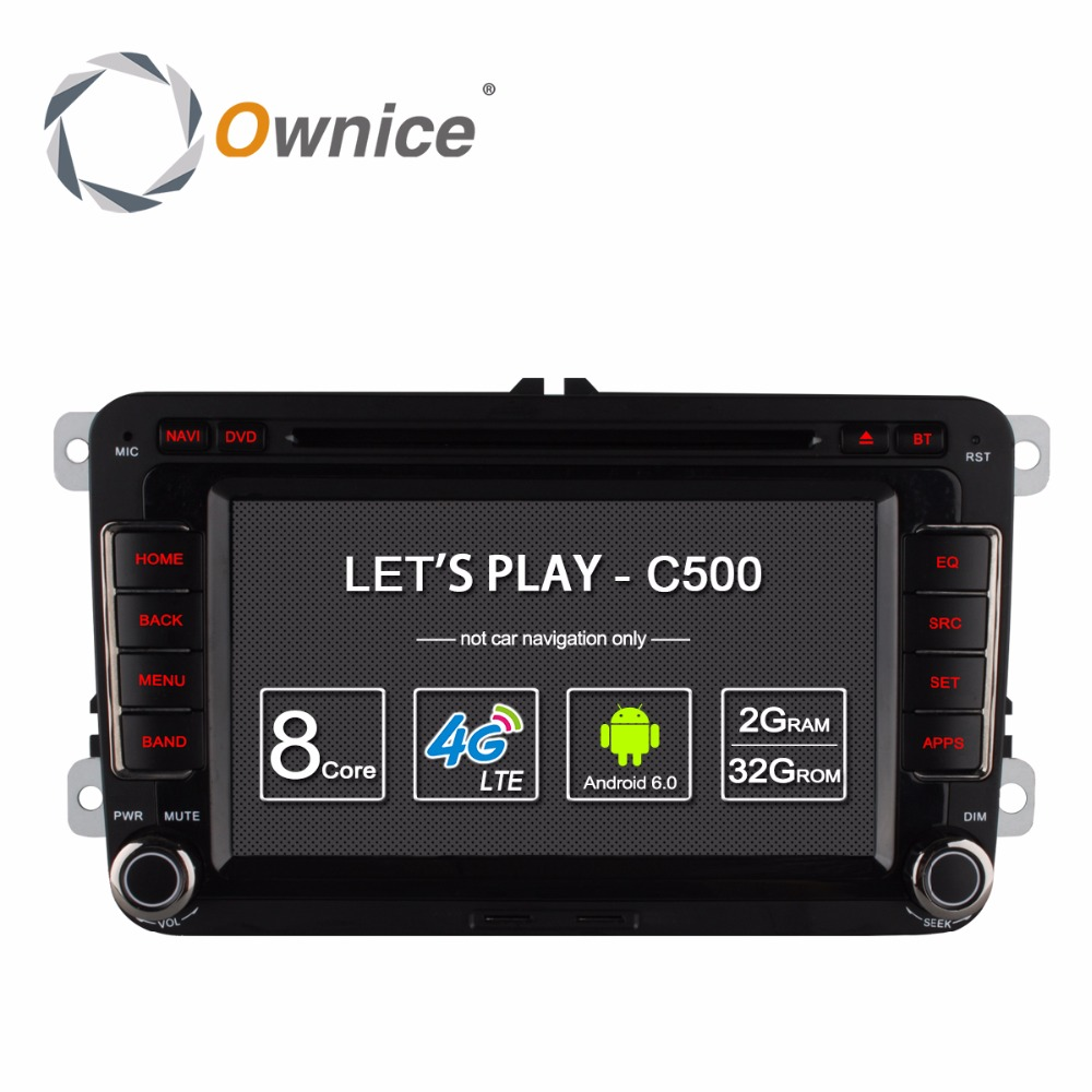 Ownice C500 Android 6.0 4Core 2G RAM Car DVD Player For
