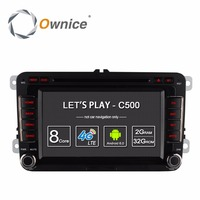 Ownice C500 Android 6.0 4Core 2G RAM Car DVD Player For Volkswagen Passat POLO GOLF Skoda Seat Leon With GPS Navi 4G LTE Network