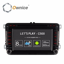 Ownice C500 Android 6.0 4 Núcleo 2G RAM Coche Reproductor de DVD Para Volkswagen Passat POLO GOLF Seat Leon Skoda Con GPS Navi 4G LTE Red