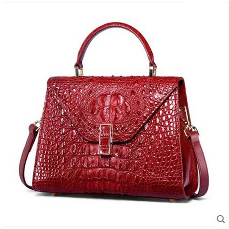 yuanyu new crocodile leather women handbag genuine leather imported Thai alligator single shoulder cross women bag yuanyu the new crocodile skin female bag imported crocodile leather single shoulder bag genuine handbag alligator women handbag
