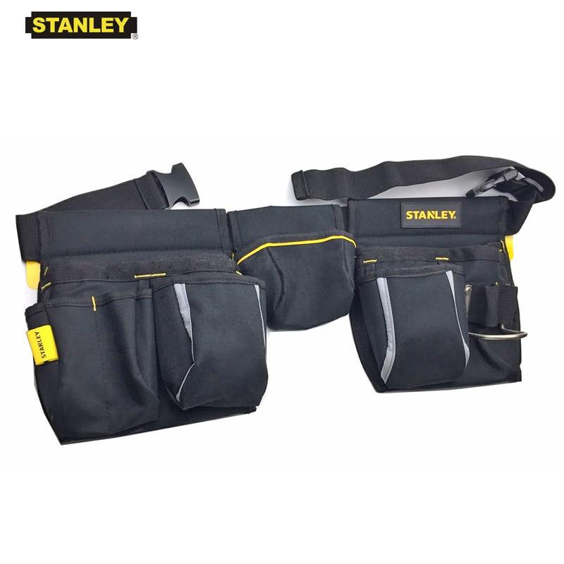 10 pocket Carpenter Electrician Nail /& Tool Pouch Leather Waist Belt Bag 2 PK