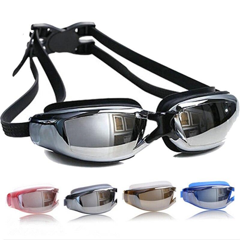 Professionelle Schwimmbrille Männer Frauen Anti-fog Uv-schutz Schwimmbrille Wasserdichte Silikon Badekappe Brille Erwachsenen Brillen