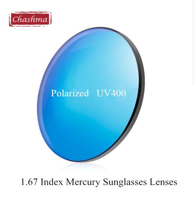 1.67 Ultrafino Polarizadas UV 400 Protección de Colores Lentes de Sol Lentes de Prescripción de Mercurio gafas de Sol de La Miopía