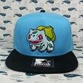 Boné de beisebol de Partida Bulbasaur Pokemon Anime Snapback chapéus para mulheres dos homens da marca hip hop skate bonés trucker golf osso moda