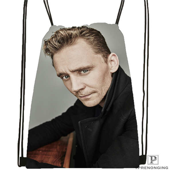 Custom Tom_Hiddleston_Cannes @03-Drawstring Backpack Bag Cute Daypack Kids Satchel (Black Back) 31x40cm#180611-01-36