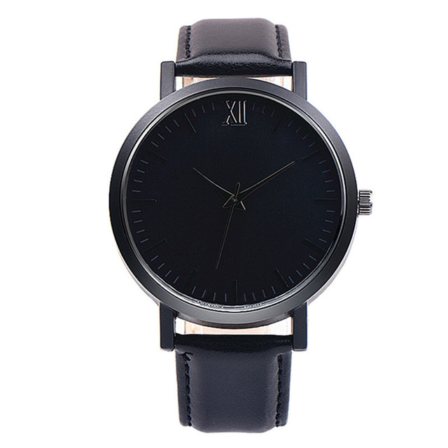 2019 Watch Mens Luxury Brand Clock Men Sport Black Wristwatch Casual Watches With Leather Relogio Masculino Classic Reloj Hombre