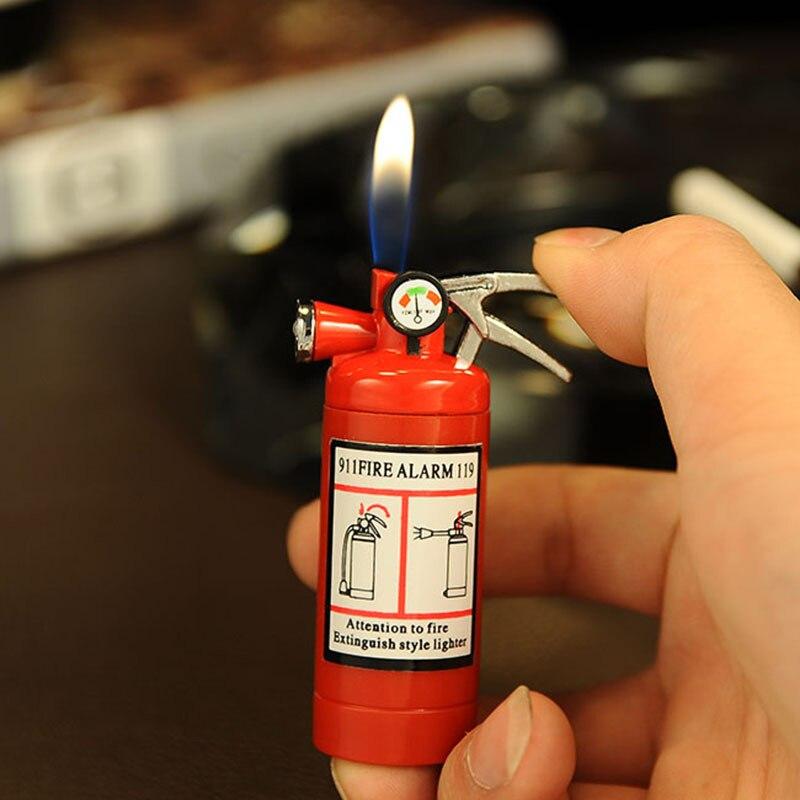 Image 2 - Креативная компактная струйная зажигалка, светодиодный бутановый зажигалка, надувной газовый огнетушитель, зажигалка, металлическая забавная игрушка-in Спички from Дом и животные