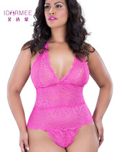 IDARMEE S6445 Plus Size Lingerie Women Floral Lace Sexy Underwear Slim Erotic Langerie Porn Sleepwear Sexy Teddies Lingerie XXXL