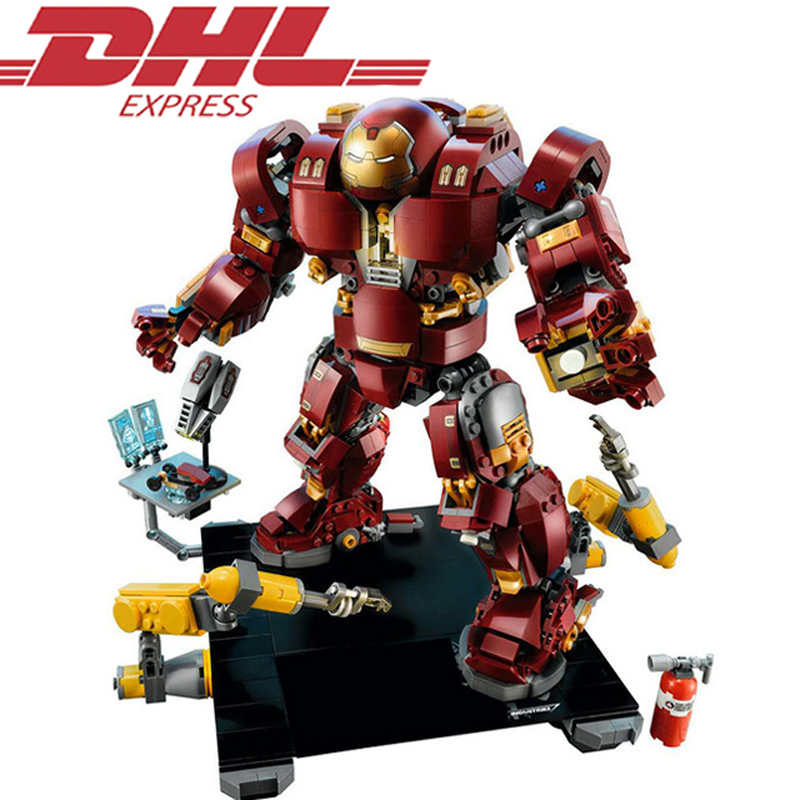 Lepin 07101 1527Pcs Super Hero Iron Man The Hulkbuster Ultron Editio Model Building Kits Blocks Bricks Toy Gift Compatible 76105 a toy a dream lepin 15008 2462pcs city street creator green grocer model building kits blocks bricks compatible 10185