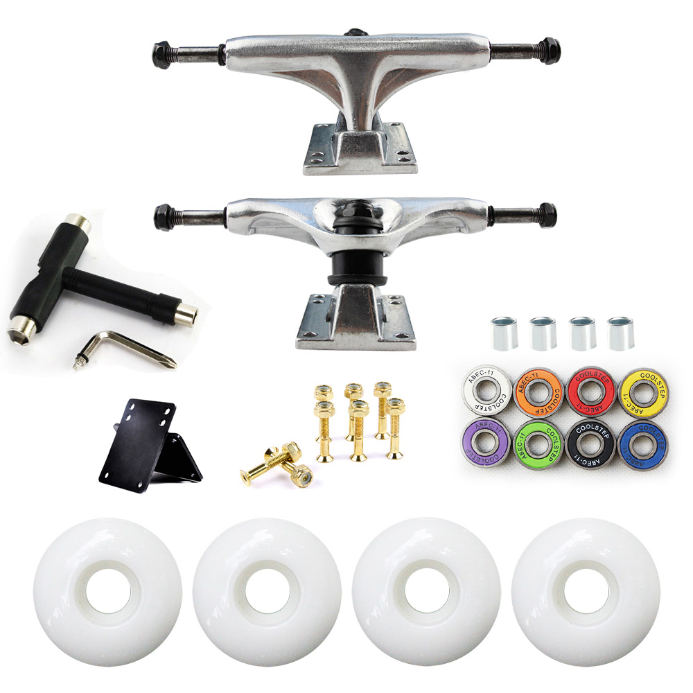 5in Skateboard Trucks Combo Set 5230mm Wielen Aluminium - Rolschaatsen, skateboards en scooters - Foto 2