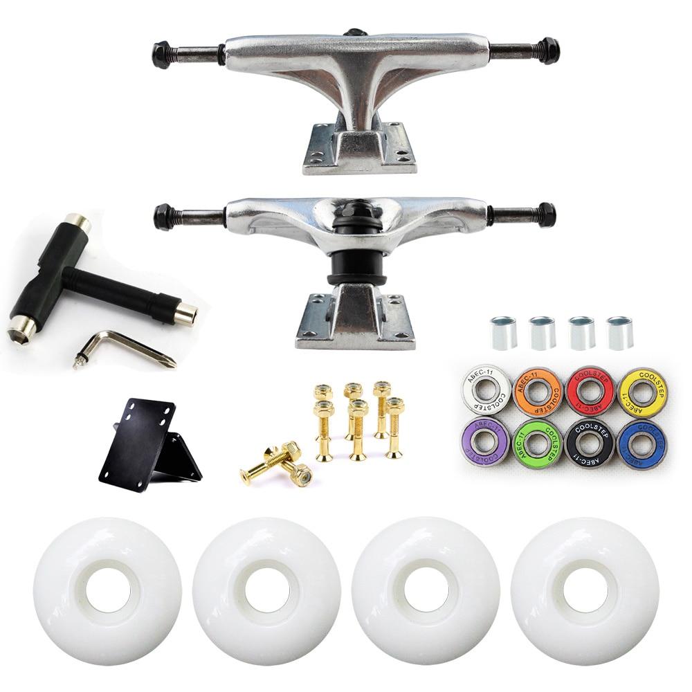5in Skateboard Trucks Combo Set 5230mm Wheels Aluminum Magnesium Alloy Professional Bridge Skate Board Bracket Free Shipping