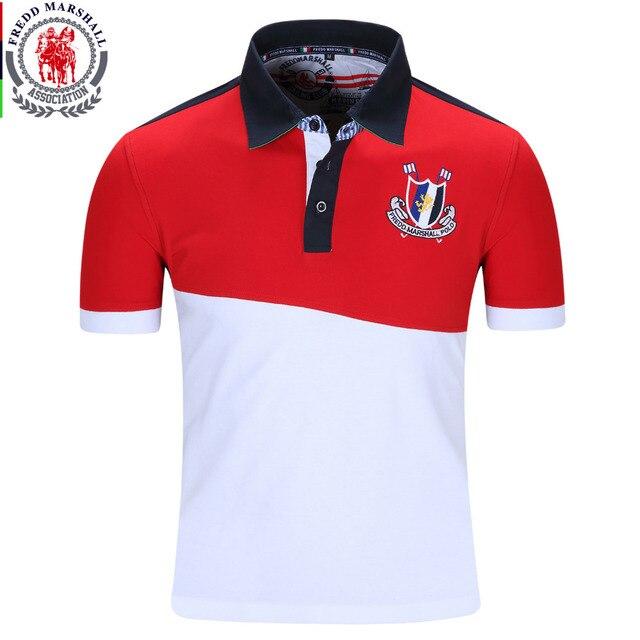 2016 новый бренд мужчины polo shirt mens solid polo homme случайный с коротким Рукавом Топы для Парня Лоскутное 100% Хлопок Плюс Размер 022